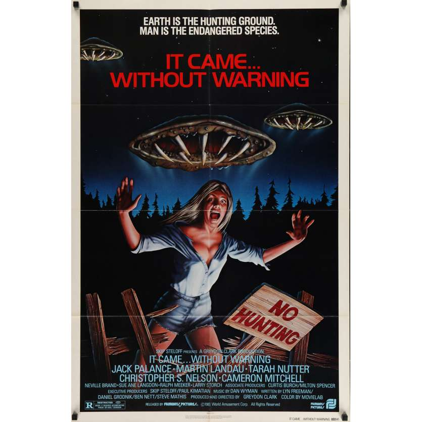 IT CAME WITHOUT WARNING Movie Poster 29x41 in. USA - 1980 - Greydon Clark, Jack Palance
