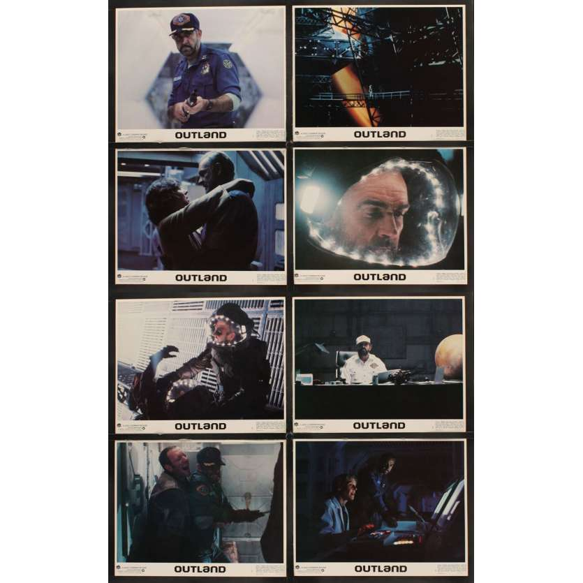 OUTLAND Sean Connery Lobby Cards (8) Scifi