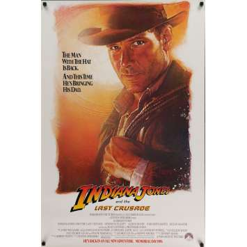 INDIANA JONES AND THE LAST CRUSADE Movie Poster 29x41 in. USA - 1989 - Steven Spielberg, Harrison Ford