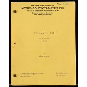 LOGAN'S RUN Movie Script 9x12 in. USA - 1977 - Donald Moffat, Gregory Harrison