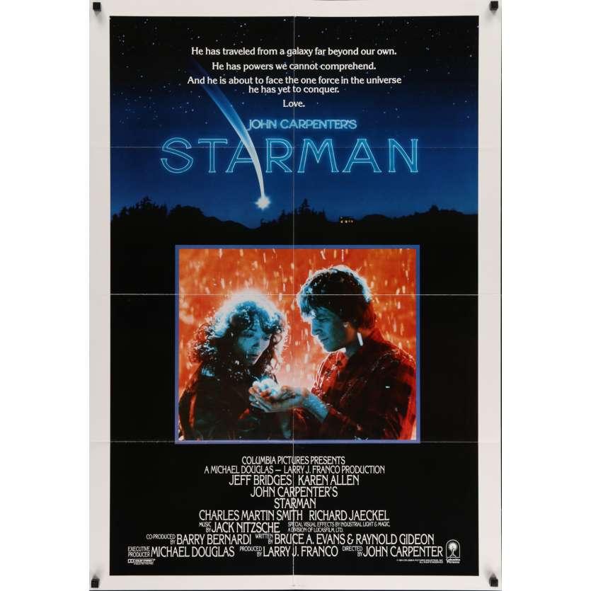 STARMAN Movie Poster 29x41 in. USA - 1984 - John Carpenter, Jeff Bridges