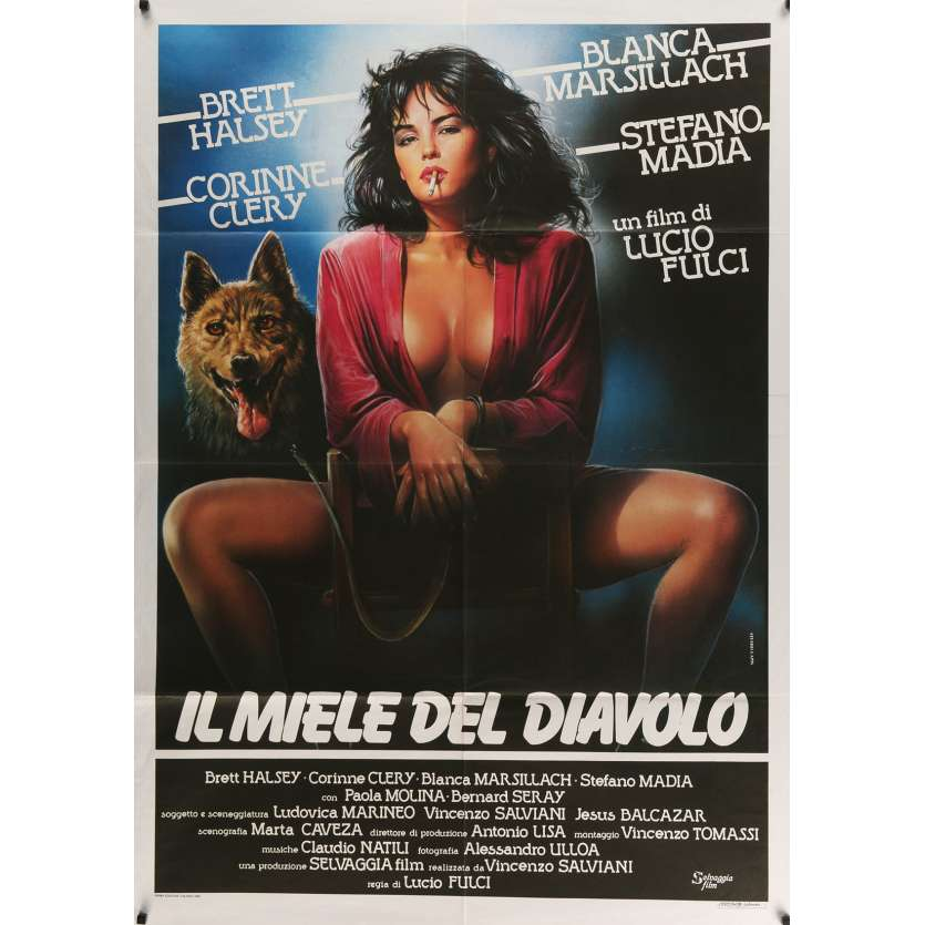 DEVIL'S HONEY Movie Poster 39x55 in. Italian - 1986 - Lucio Fulci, Corinne Cléry