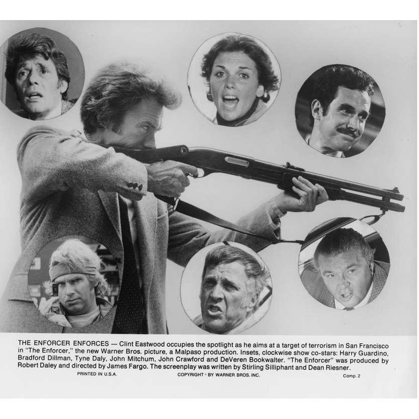 THE ENFORCER Movie Still N8 8x10 in. USA - 1976 - James Fargo, Clint Eastwood