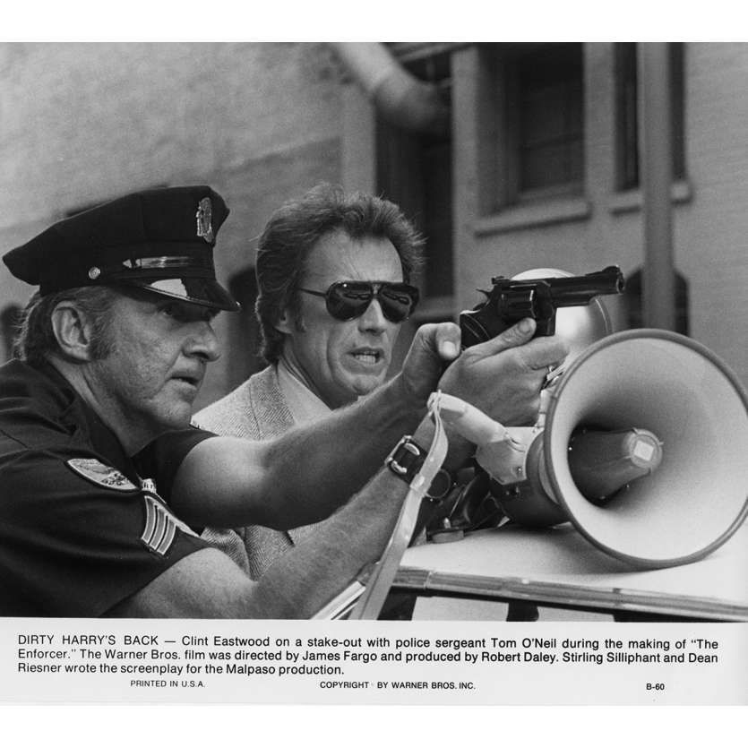L'INSPECTEUR NE RENONCE JAMAIS Photo de presse N7 20x25 cm - 1976 - Clint Eastwood, James Fargo