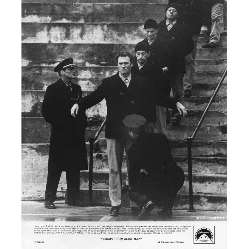 ESCAPE FROM ALCATRAZ Movie Still N2 8x10 in. USA - 1979 - Don Siegel, Clint Eastwood