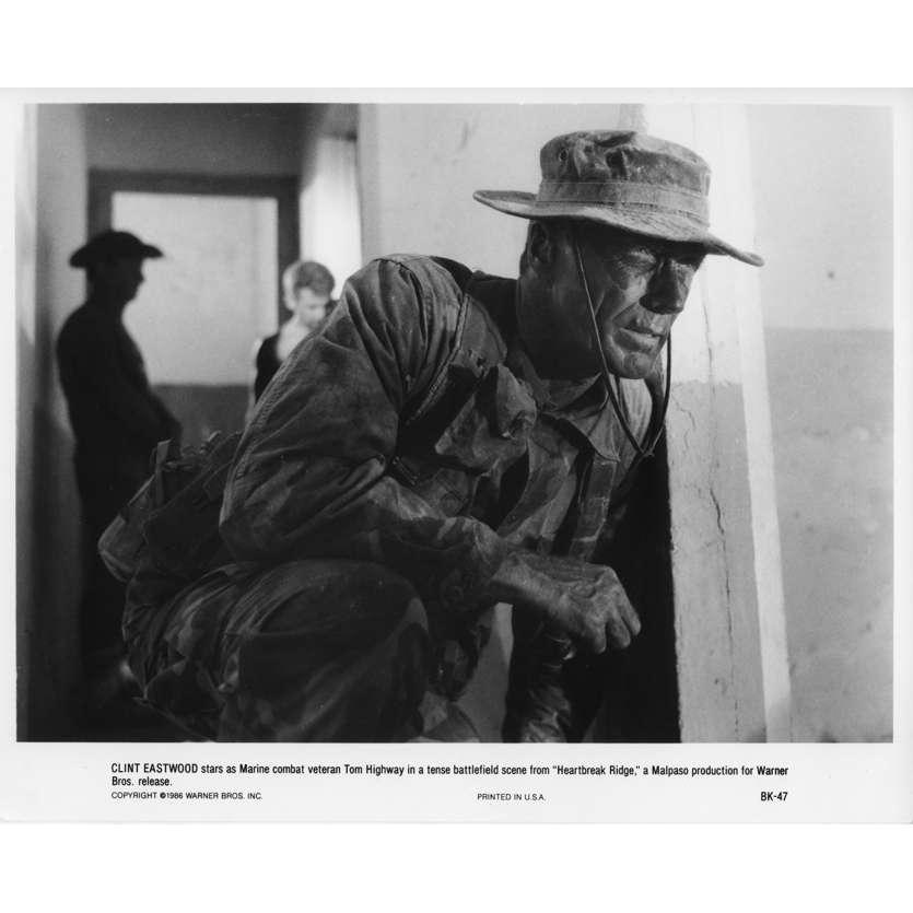 LE MAITRE DE GUERRE Photo de presse N3 20x25 cm - 1986 - Mario Van Peebles, Clint Eastwood