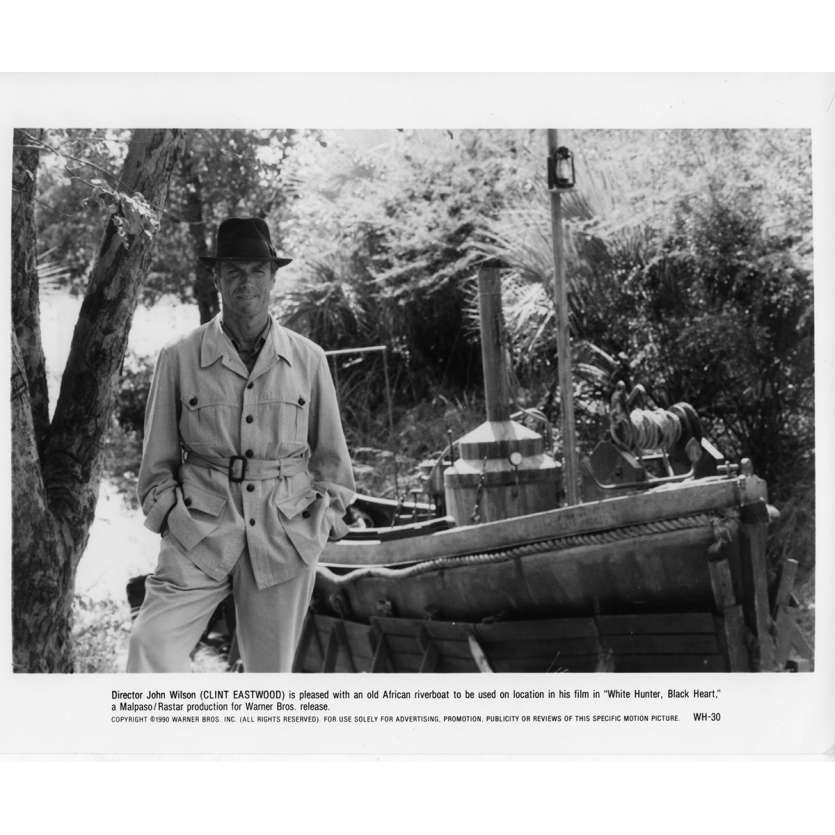 CHASSEUR BLANC CŒUR NOIR Photo de presse N2 20x25 cm - 1990 - James Fahey, Clint Eastwood