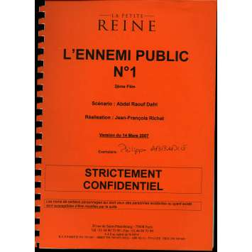 MESRINE - PUBLIC ENEMY 1 Movie Script C 9x12 in. French - 2008 - Jean-François Richet, Vincent Cassel