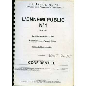 MESRINE - PUBLIC ENEMY 1 Movie Script A 9x12 in. French - 2008 - Jean-François Richet, Vincent Cassel