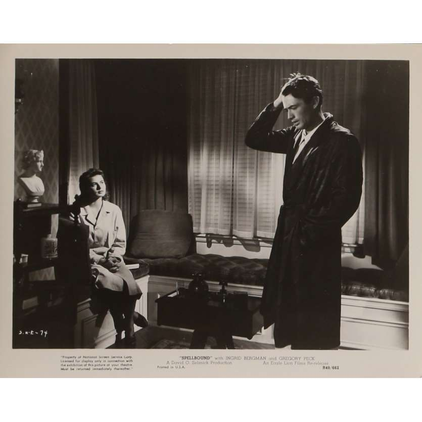 SPELLBOUND Movie Still N3 8x10 in. USA - R1949 - Alfred Hitchcock, Ingrid Bergman