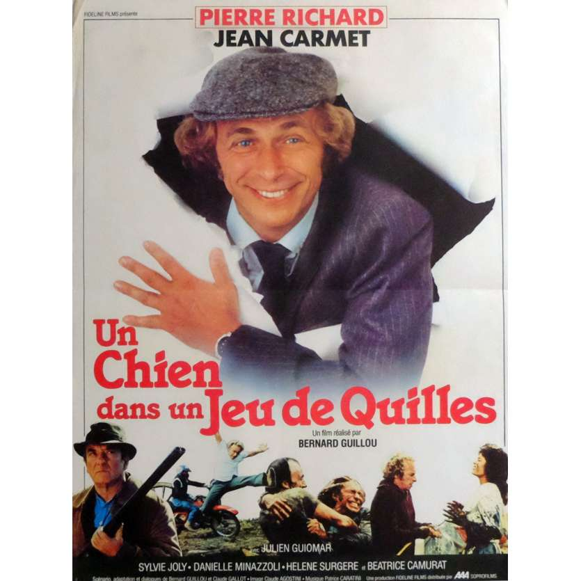 UN CHIEN DANS UN JEU DE QUILLES Movie Poster 15x21 in. French - 1983 - Bernard Guillou, Pierre Richard