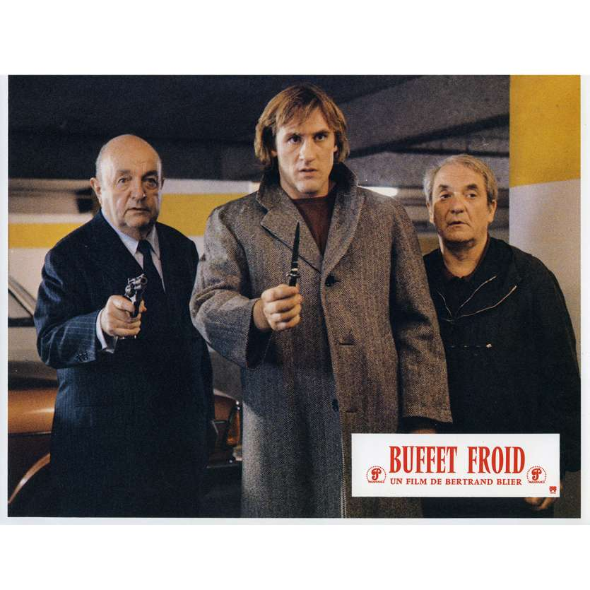 BUFFET FROID Lobby Card N1 9x12 in. French - 1979 - Bertrand Blier, Gérard Depardieu