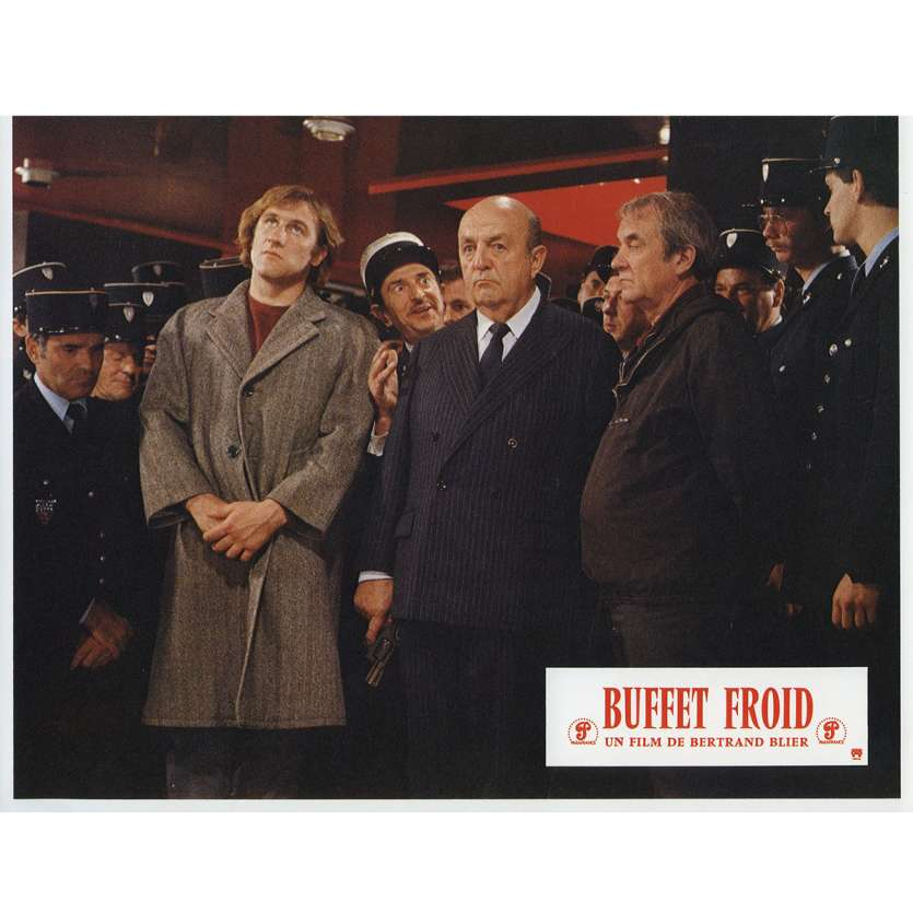 BUFFET FROID Lobby Card N5 9x12 in. French - 1979 - Bertrand Blier, Gérard Depardieu