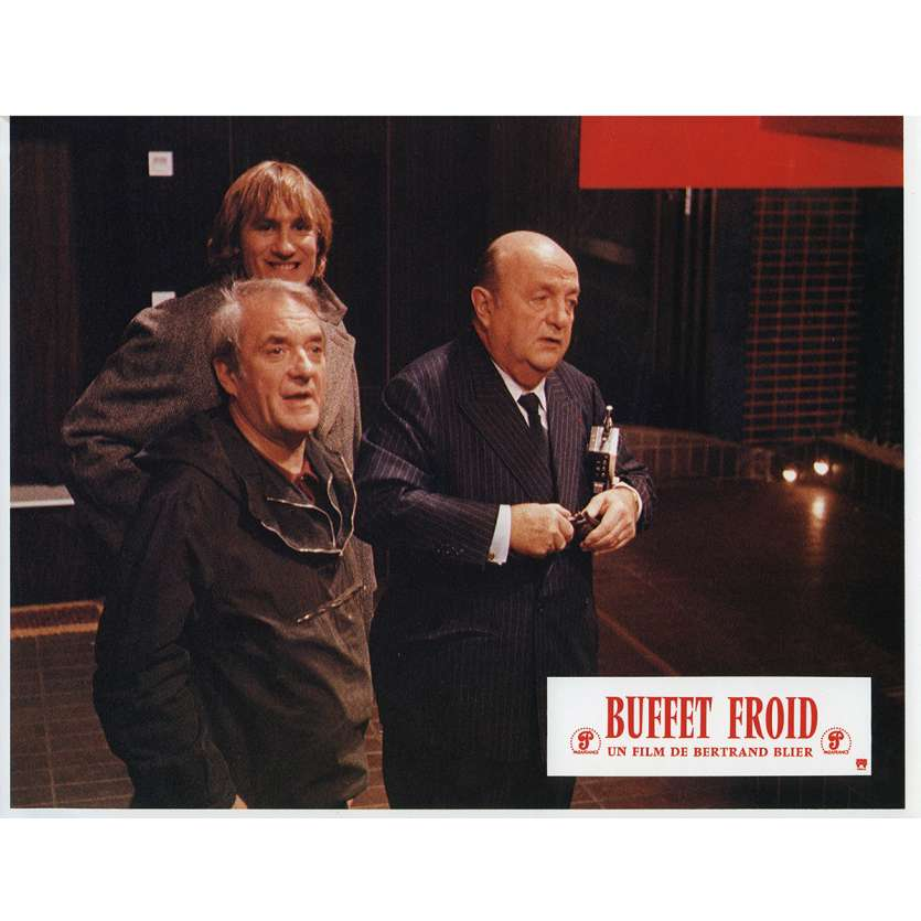 BUFFET FROID Lobby Card N6 9x12 in. French - 1979 - Bertrand Blier, Gérard Depardieu