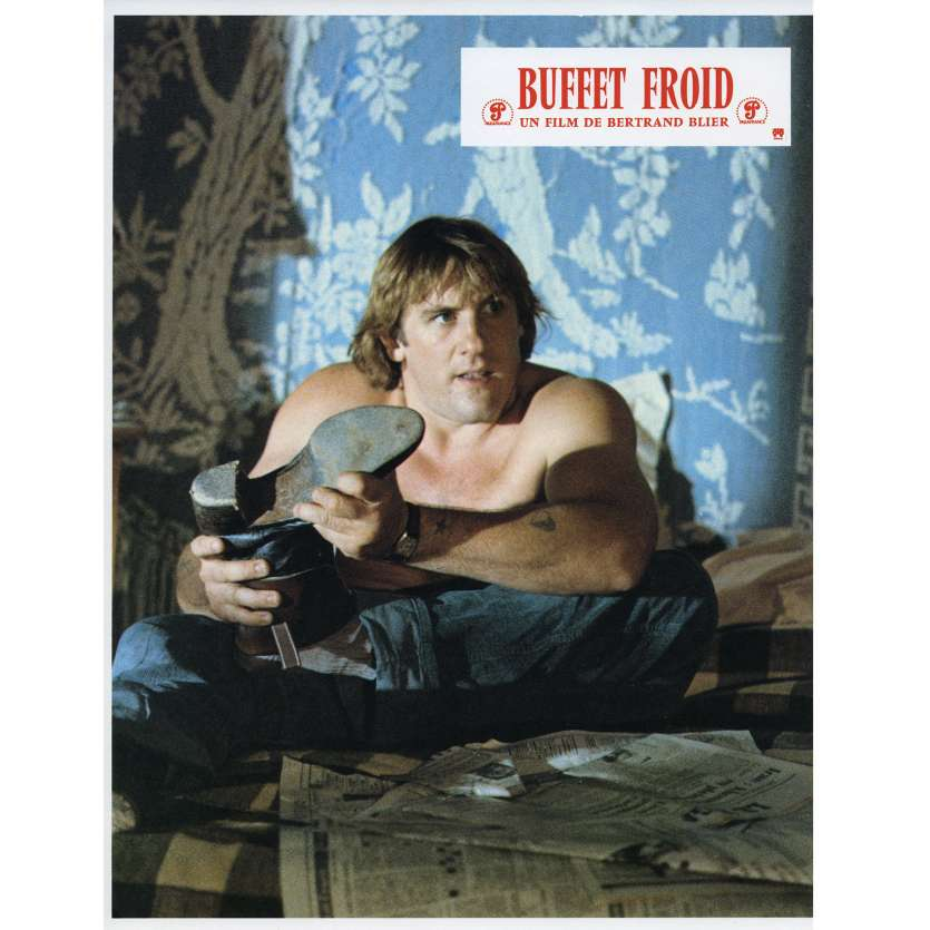BUFFET FROID Lobby Card N9 9x12 in. French - 1979 - Bertrand Blier, Gérard Depardieu
