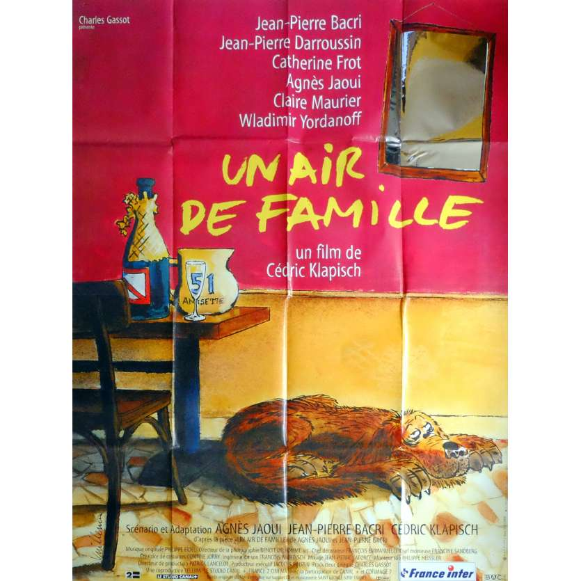 FAMILY RESSEMBLANCES Movie Poster 47x63 in. French - 1996 - Cédric Klapisch, Jean-Pierre Bacri
