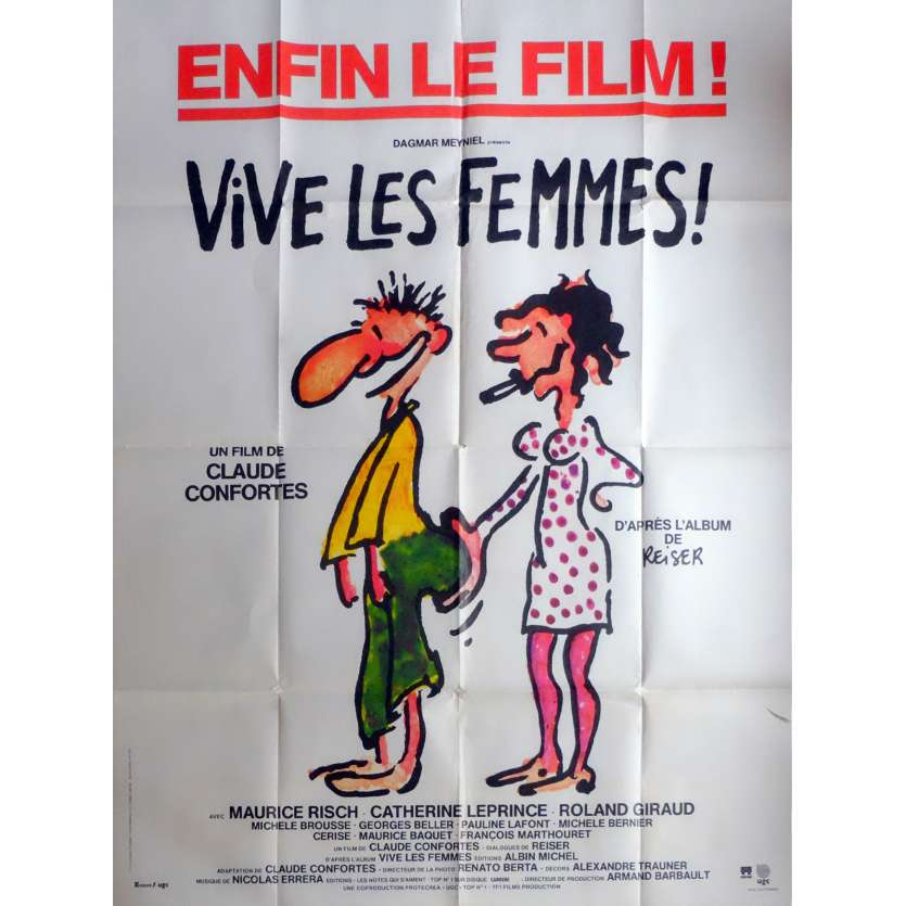 VIVE LES FEMMES Movie Poster 47x63 in. French - 1984 - Claude Confortes, Maurice Risch