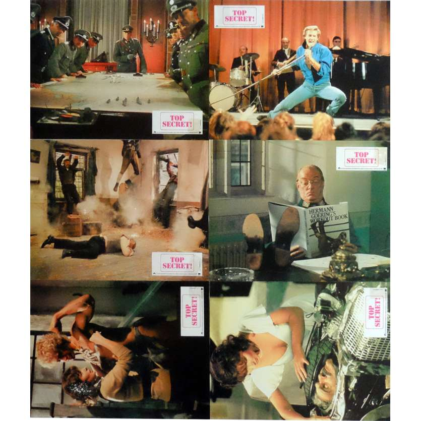 TOP SECRET Lobby Cards x6 Jeu B 9x12 in. French - 1984 - David Zucker, Val Kilmer