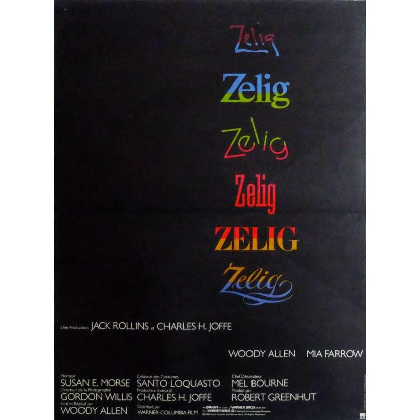 ZELIG Movie Poster 15x21 in. French - 1983 - Woody Allen, Mia Farrow