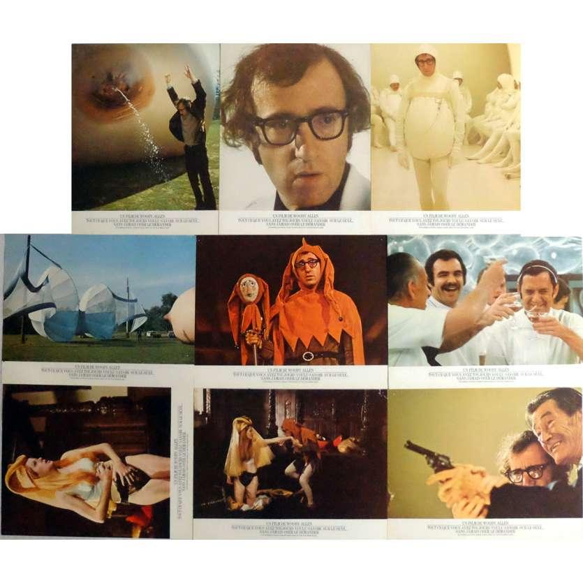 TOUT CE QUE VOUS AVEZ VOULU SAVOIR SUR LE SEXE Photos de film x9 Jeu A 21x30 cm - 1973 - Gene Wilder, Woody Allen