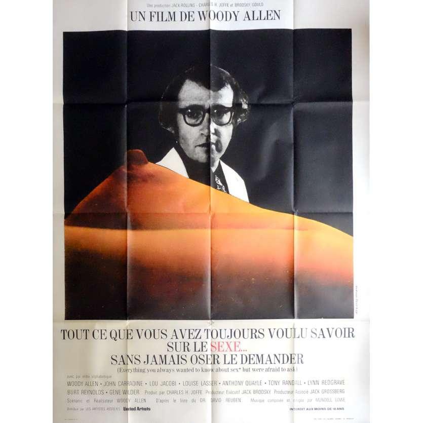 TOUT CE QUE VOUS AVEZ VOULU SAVOIR SUR LE SEXE Affiche de film 120x160 cm - 1973 - Gene Wilder, Woody Allen