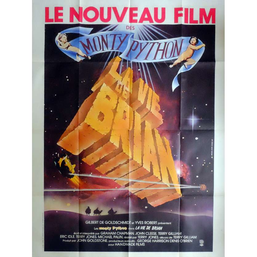 LIFE OF BRIAN Movie Poster 47x63 in. French - 1980 - Terry Gilliam, John Cleese