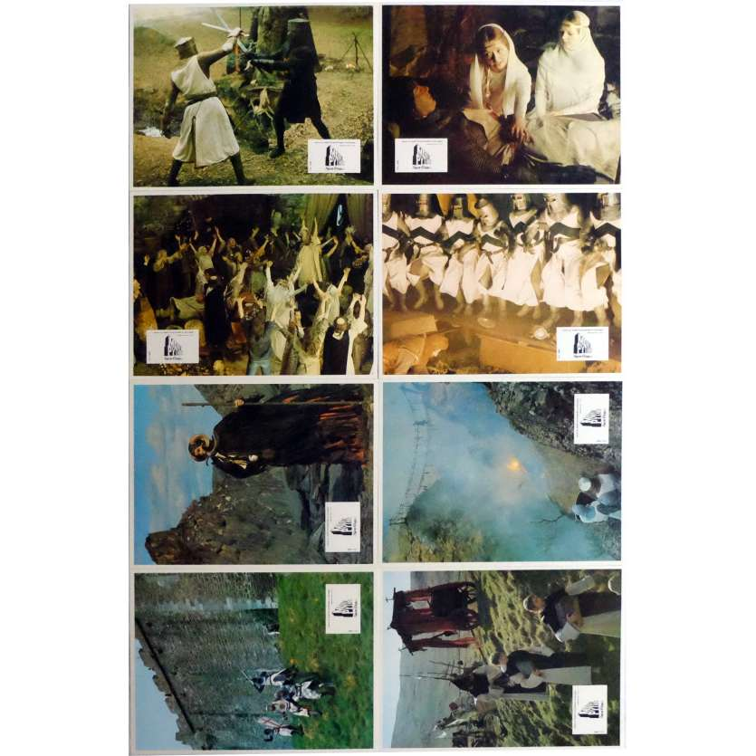 MONTY PYTHON AND THE HOLY GRAIL Lobby Cards x8 9x12 in. French - 1975 - Terry Gilliam, John Cleese