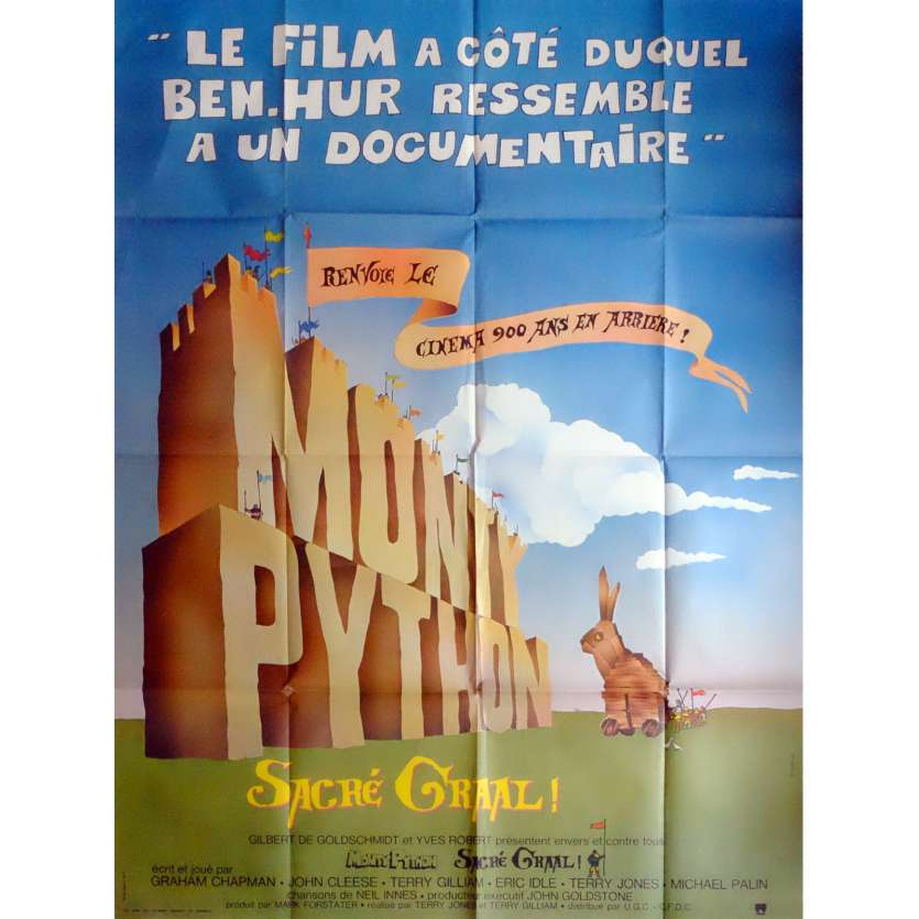 MONTY PYTHON AND THE HOLY GRAIL Movie Poster 47x63 in. French - 1975 - Terry Gilliam, John Cleese