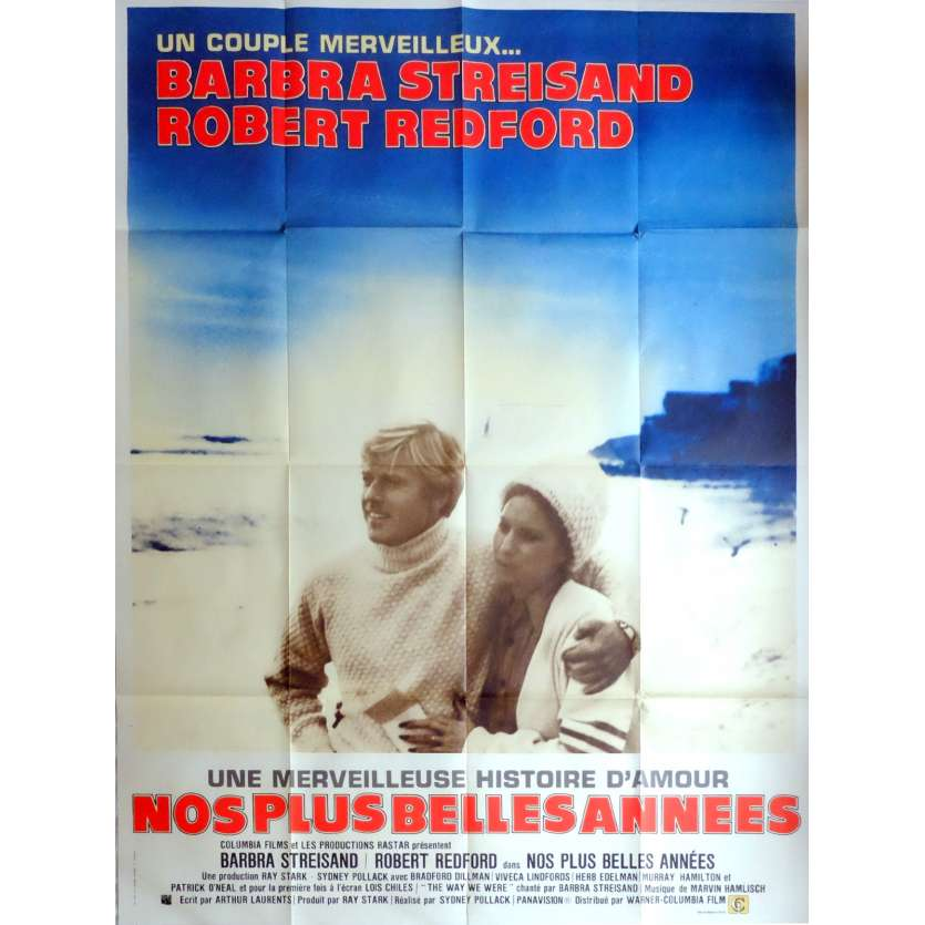 THE WAY WE WERE Movie Poster 47x63 in. French - 1973 - Sydney Pollack, Barbra Streisand