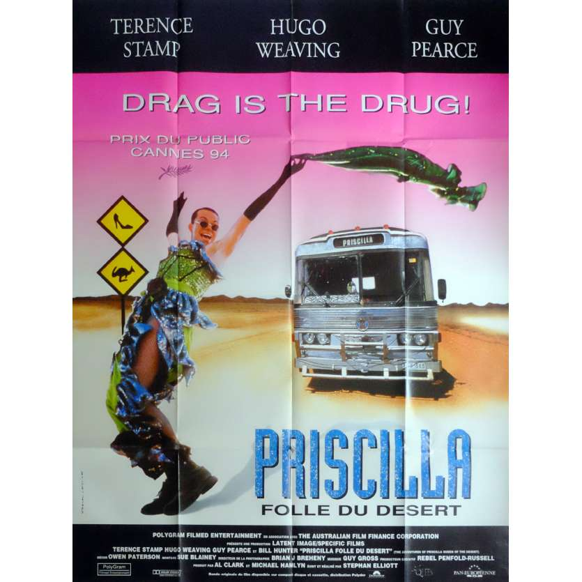 PRISCILLA QUEEN OF THE DESERT Movie Poster 47x63 in. French - 1994 - Stephan Elliott, Terence Stamp