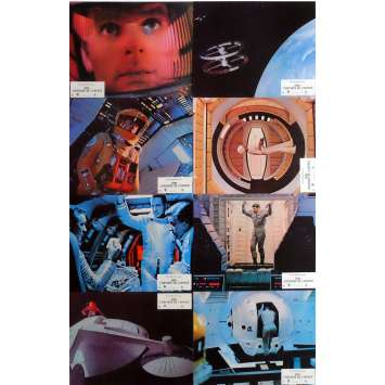 2001 A SPACE ODYSSEY Lobby Cards x8 9x12 in. French - 1970 - Stanley Kubrick, Keir Dullea