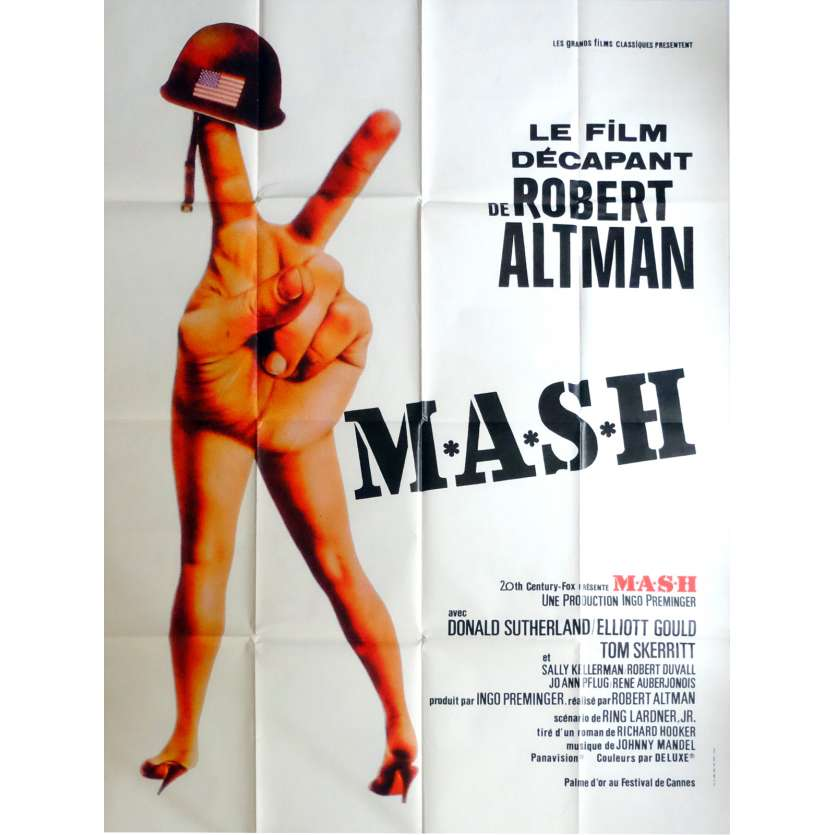 MASH Movie Poster 47x63 in. French - 1972 - Robert Altman, Donald Sutherland