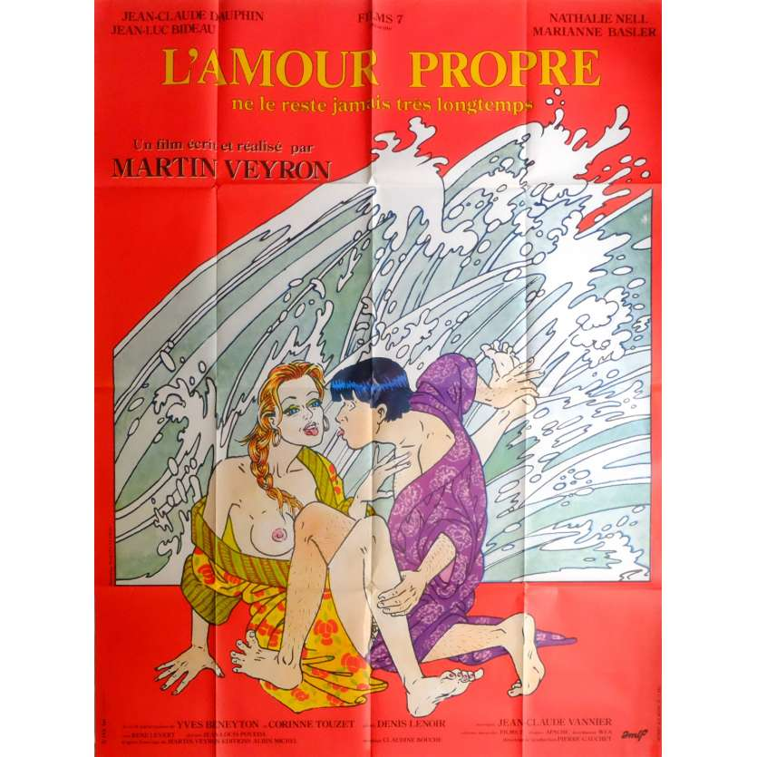 L'AMOUR PROPRE Movie Poster 47x63 in. French - 1985 - Martin Veyron, Jean-Luc Bideau