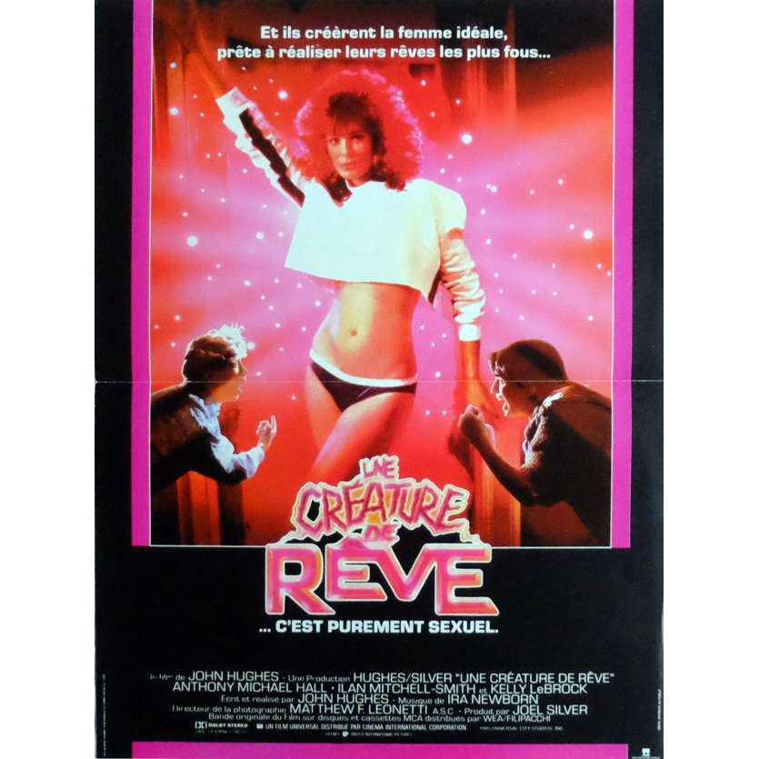 WEIRD SCIENCE Movie Poster 15x21 in. French - 1985 - John Hugues, Anthony Michael Hall