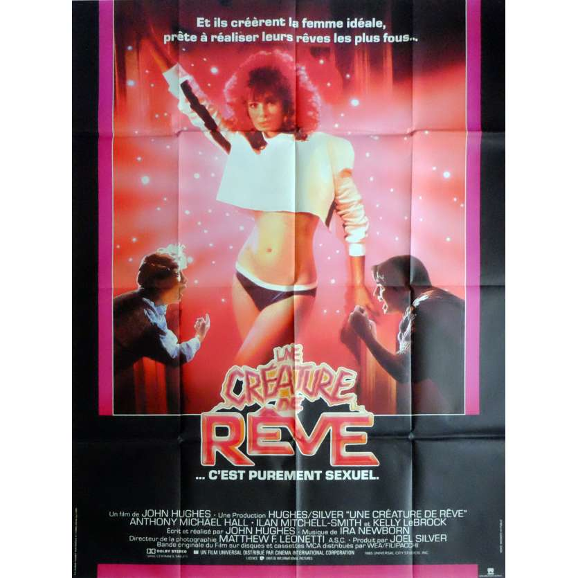 UNE CREATURE DE REVE Affiche de film 120x160 cm - 1985 - Anthony Michael Hall, John Hugues