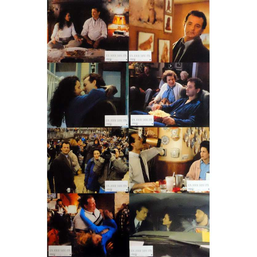 GROUNDHOG DAY Lobby Cards x8 9x12 in. French - 1993 - Harold Ramis, Bill Murray