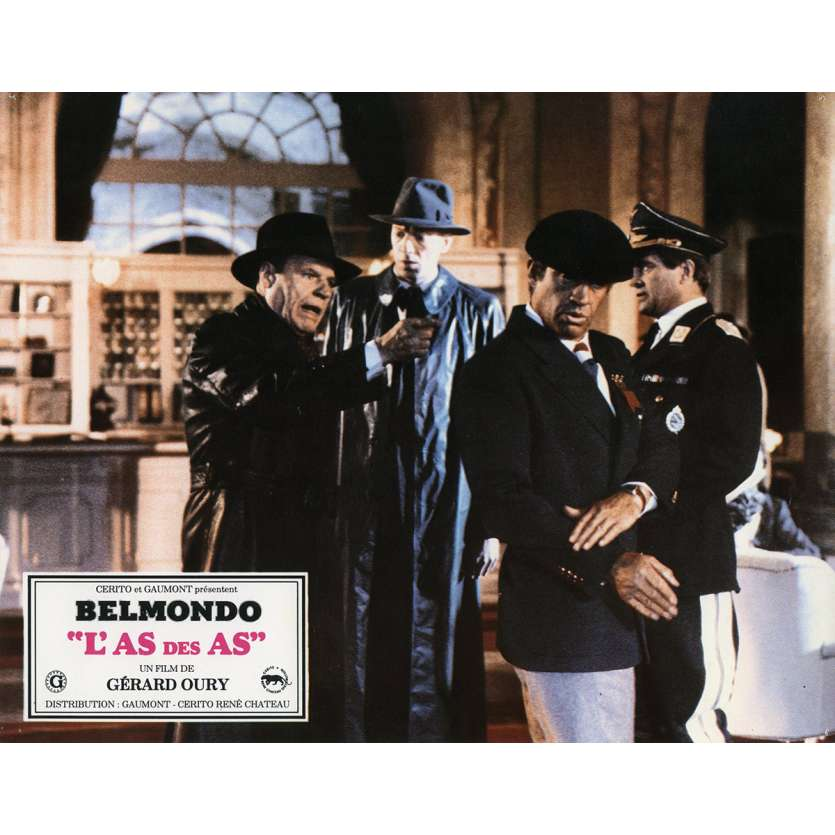 ACE OF ACES Lobby Card N5 9x12 in. French - 1982 - Gerard Oury, Jean-Paul Belmondo
