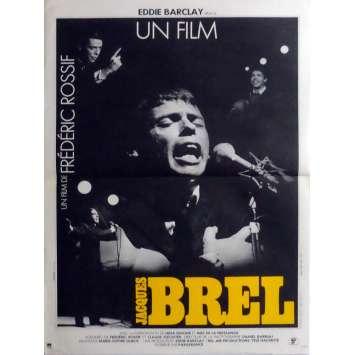 JACQUES BREL Affiche de film 40x60 cm - 1982 - Jacques Brel, Frédéric Rossif