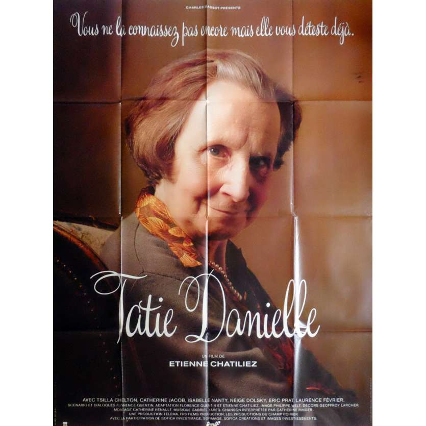 TATIE DANIELLE Affiche de film 120x160 cm - 1990 - Tsilla Chelton, Etienne Chatillez