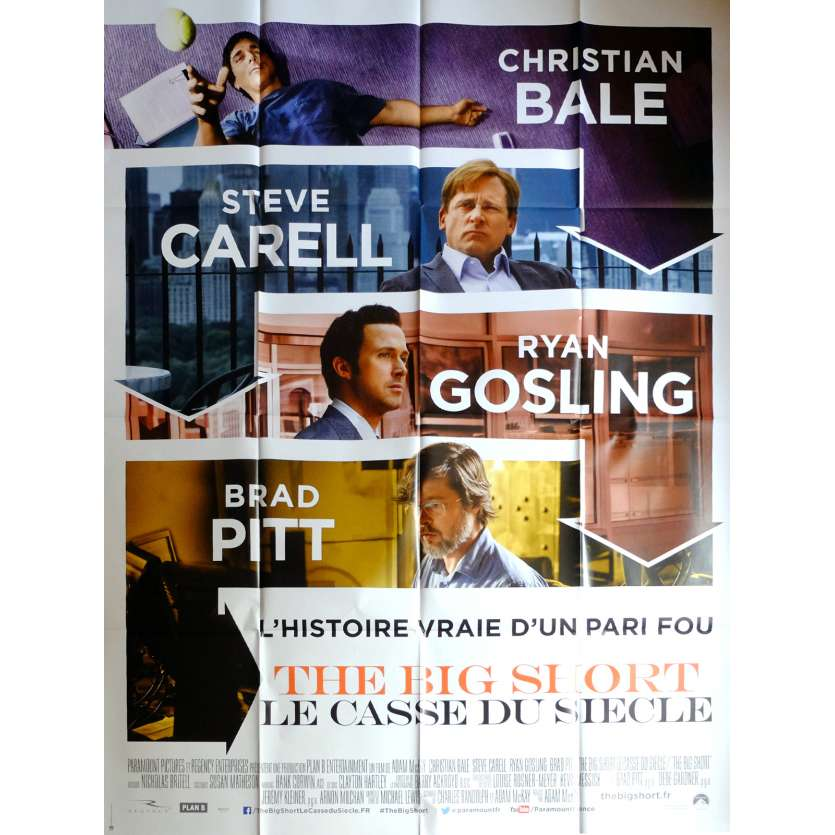 THE BIG SHORT Movie Poster 47x63 in. French - 2015 - Adam McKay, Christian Bale