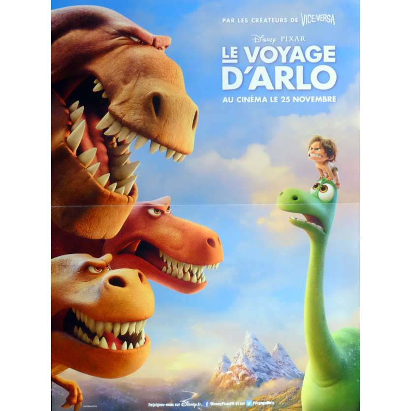 THE GOOD DINOSAUR Movie Poster def. 15x21 in. French - 2015 - Pixar, Jeffrey Right