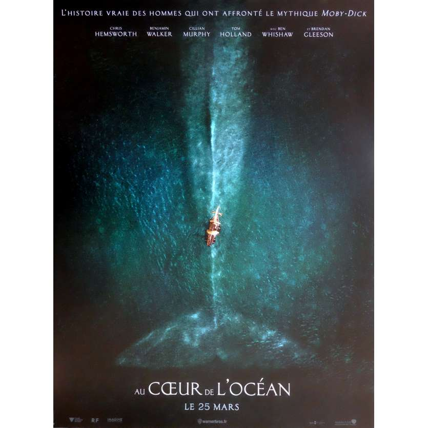 AU CŒUR DE L'OCEAN Affiche de film 40x60 cm - 2015 - Chris Hemsworth, Ron Howard