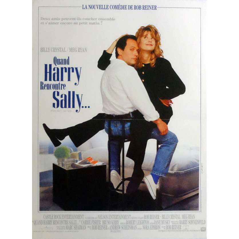 QUAND HARRY RENCONTRE SALLY Affiche de film 40x60 - 1989 - Billy Crystal, Meg Ryan, Rob Reiner