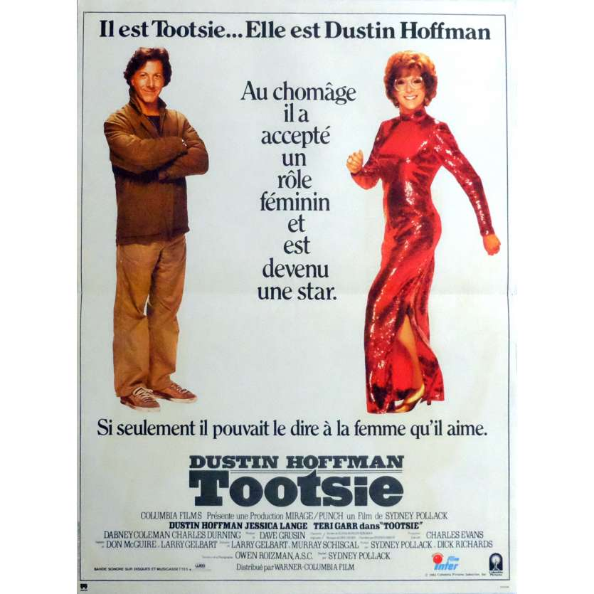 TOOTSIE Affiche de film 40x60 - 1982 - Dustin Hoffman, Sydney Pollack