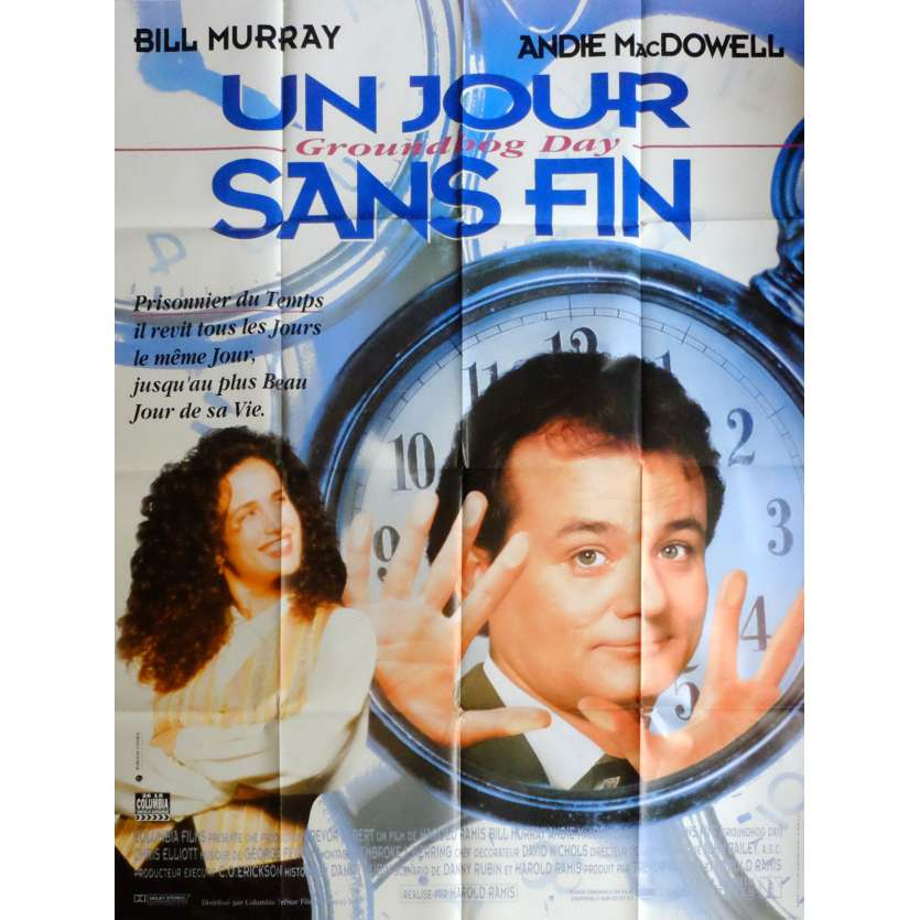 GROUNDHOG DAY French Movie Poster 47x63 '93 Bill Murray