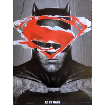 BATMAN VS SUPERMAN Movie Poster BT Style 15x21 in. French - 2016 - Zack Snyder, Ben Affleck