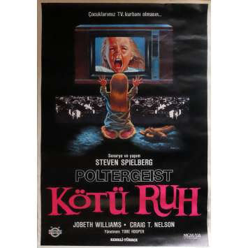 POLTERGEIST Movie Poster 29x40 in. Turkish - 1982 - Steven Spielberg, Heather o'rourke