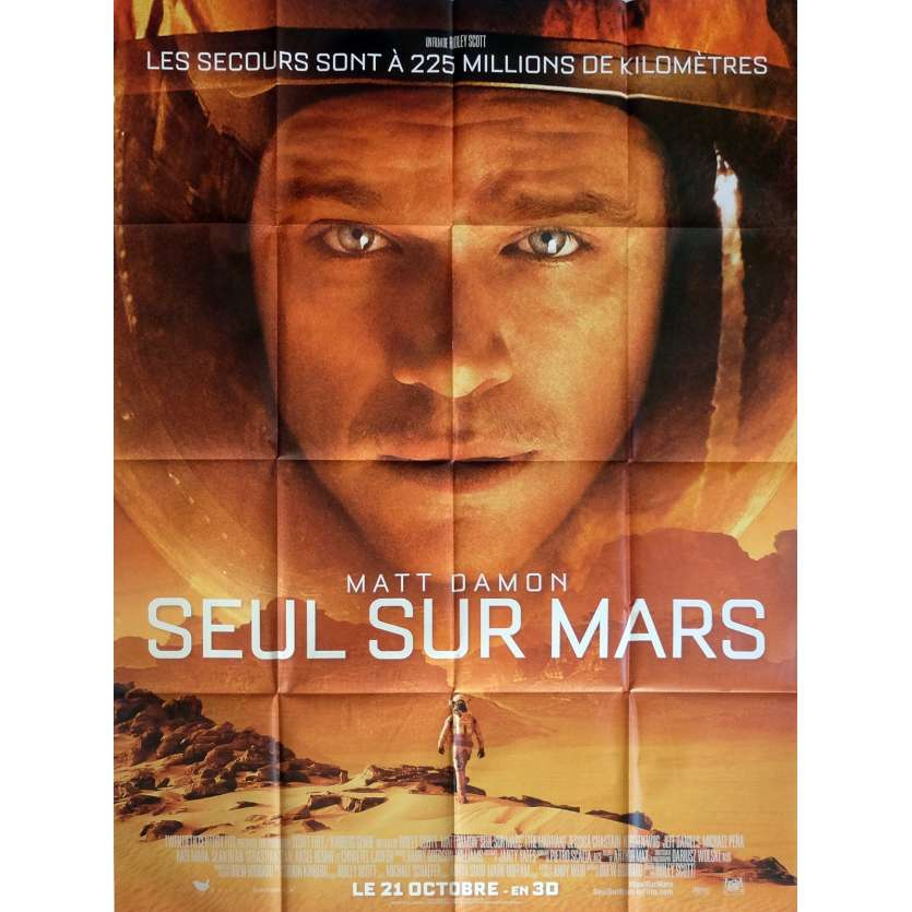 THE MARTIAN Movie Poster 47x63 in. French - 2015 - Ridley Scott, Matt Damon