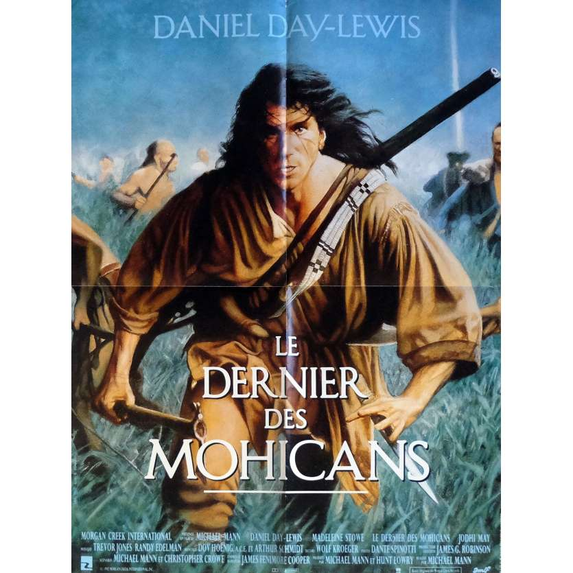 LAST OF THE MOHICANS French Movie Poster 23x32 '92 Michael Mann, Daniel Day Lewis