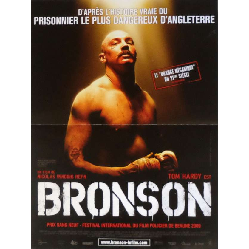 BRONSON French Movie Poster 15x21 '08 Nicolas Winding Refn, Tom Hardy